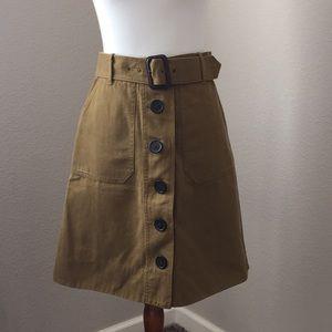 J. Crew olive green skirt